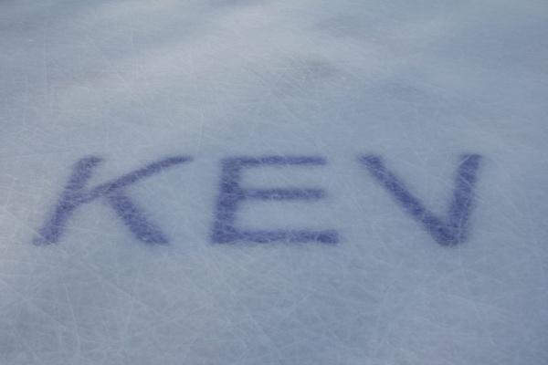 KEV Schrift unter dem Eis