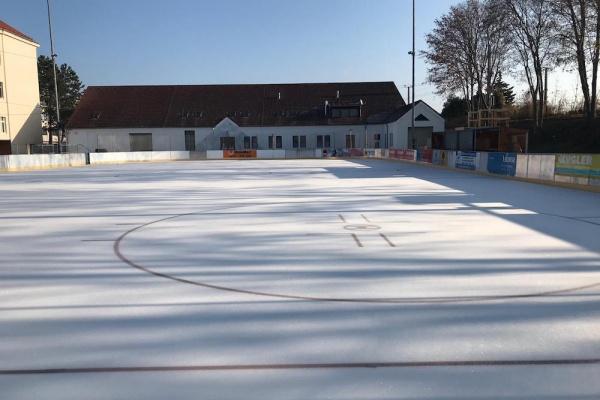 Der Kremser Eislaufplatz.